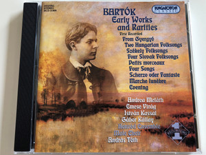 Bartók - Early Works and Rarities / First Recorded / Two Hungarian Folk songs, Székely Folk Songs, Four Slovak Folk Songs / Andrea Meláth, Emese Virág / Honvéd Ensemble Male Choir / Lead by András Tóth / Audio CD 2000 / HCD 31909 (5991813190925)