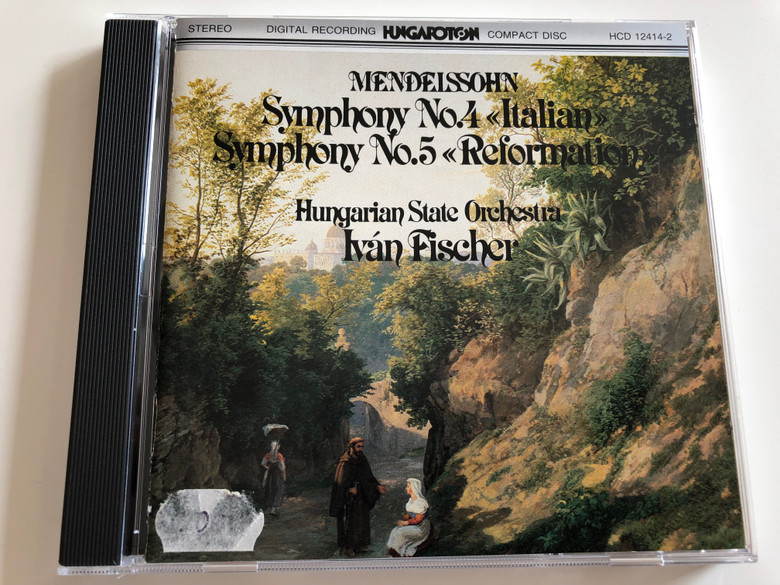 """Mendelssohn - Symphony No. 4 """"Italian"""", Symphony No. 5 """"Reformation"""" / Hungarian State Orchestra / Conducted by Iván Fischer / Hungaroton Audio CD 1983 / HCD 12414-2 (HCD12414-2)"""