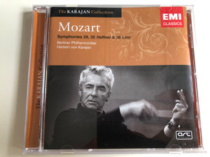 Mozart - Symphonies 29, 35 Haffner & 36 Linz / Berliner Philharmoniker / Conducted by Herbert von Karajan / Emi Classics / The Karajan Collection / Audio CD 2005 (724347689024)