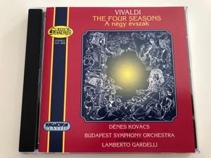 Vivaldi - The Four Seasons (A négy évszak) / Dénes Kovács violin, Budapest Symphony Orchestra / Conducted by Lamberto Gardelli / Hungaroton / CLD 4009 / Audio CD 1996 (5991810400928)