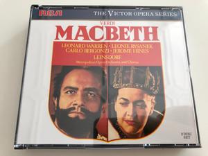 Verdi - Macbeth / Leonard Warren, Leonie Rysanek, Carlo Bergonzi, Jerome Hines / Conductor: Erich Leinsdorf / Metropolitan Opera Orchestra and Chorus / The Victor Opera Series / 2 Disc SET / GD84516(2) (0035628451620)