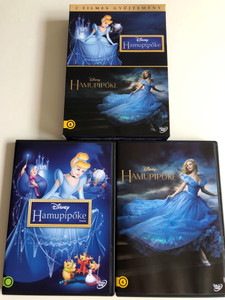 Cinderella Box Set 2 DVD 2015 Hamupipőke dupla DVD doboz / Animated movie (1950) and 2015 film release / Directors: Clyde Geronimi, Hamilton Luske, Wilfred Jackson, Kenneth Branagh / Starring: Cate Blanchett, Lily James, Richard Madden, Stellan Skarsgard / 2 DVD / Disney (5996514020823)