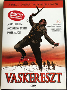 Vaskereszt DVD 1977 Cross of Iron / Directed by Sam Peckinpah / Starring: James Coburn, Maximilian Schell, James Mason and David Warner / Hungarian Dub & Sub (5999016344275.)