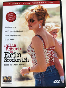 Erin Brockovich DVD 2000 / Based on a true story / Directed by Steven Soderbergh / Starring: Julia Roberts, Albert Finney, Aaron Eckhart (5035822059832)