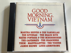 Good morning, Vietnam / The original motion picture Soundtrack / The Rivieras, The Beach Boys, The Castaways, Them, The Vogues, James Brown / Audio CD 1988 (082839696920)