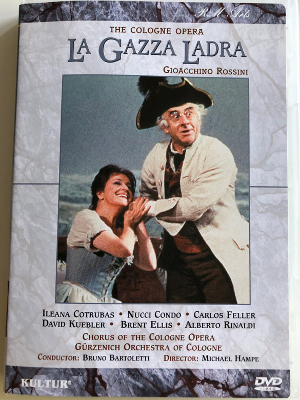 The Cologne Opera / Gioacchino Rossini: La Gazza Ladra DVD 2002 / Chorus of the Cologne Opera, Gürzenich Orchestra of Cologne / Conducted by Brun Bartoletti / Directed by Michael Hampe (032031005198)