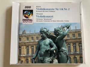 """Bach - Violinkonzerte Nr. 1 & Nr. 2 - Konzert für zwei Violinen / Vivaldi - Violinkonzert / Orchestra """"Mozarteum"""" / Alexander Schulrufer & Viktor Sidorenko, Violine / QK 57217 / Audio CD 1993 (5099705721728)"""