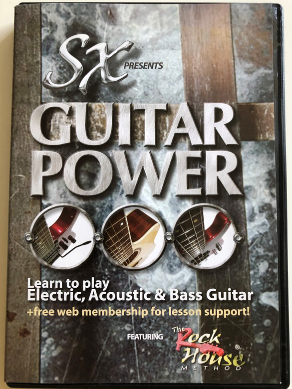 SX Presents - Guitar Power DVD / Learn to play Electric, Acoustic & Bass guitar + free web membership for lesson support / Featuring the Rock House Method by John McCarthy (882413000163)