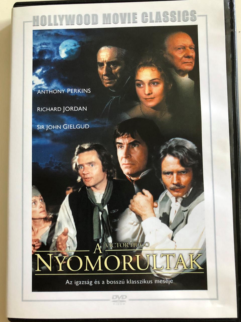 Victor Hugo's Les Misérables DVD 1978 Victor Hugo - A Nyomorultak /  Directed by Glenn Jordan / Starring: Richard Jordan, Antony Perkins, Cyrill