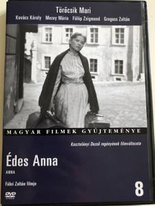 Anna DVD 1958 Édes Anna / Directed by Fábri Zoltán / Starring: Törőcsik Mari, Kovács Károly, Mezey Mária, Fülöp Zsigmond, Greguss Zoltán / B&W Hungarian film / Magyar Filmek gyűjteménye (5999546331080)