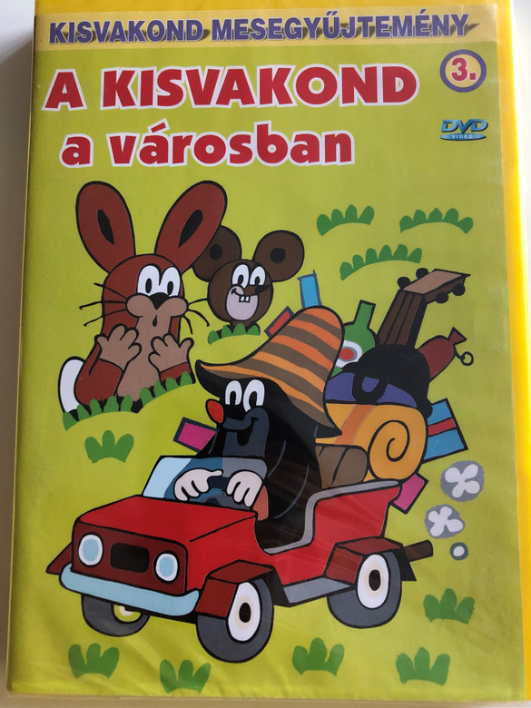 Krtek (Little Mole) in the city Series 3. DVD 2000 Kisvakond a városban - Kisvakond mesegyűjtemény 3. / 4 episodes on disc / Classic Czech Cartoon / Created by Zdeněk Miler (5998329507766)