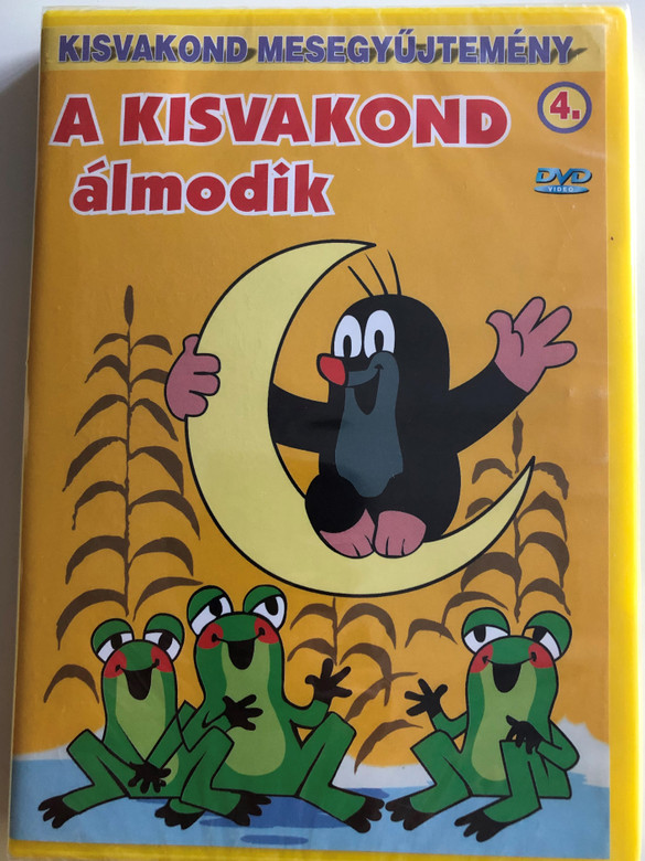 Krtek (Little Mole) is dreaming Series 4. DVD 2000 Kisvakond álmodik - Kisvakond mesegyűjtemény 4. / 4 episodes on disc / Classic Czech Cartoon / Created by Zdeněk Miler (5998329507841)