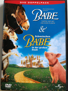 Babe & Babe - pig in the city DVD Double pack 2004 Ein Schweinchen namens Babe & Schweinchen Babe in der großen Stadt DVD Doppelpack Directed by Chris Noonan Starring James Cromwell, Magda Szubanski (5050582233070)