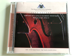 "Tchaikovsky - Symphony No. 6 Opus 74 in B minor ""Pathétique"" / Marche Slave, Opus 31 / The Royal Philharmonic Orchestra / Conducted by Yehudi Menuhin / High Quality Audiofile Edition / Audio CD 1993 (4011222044112)"