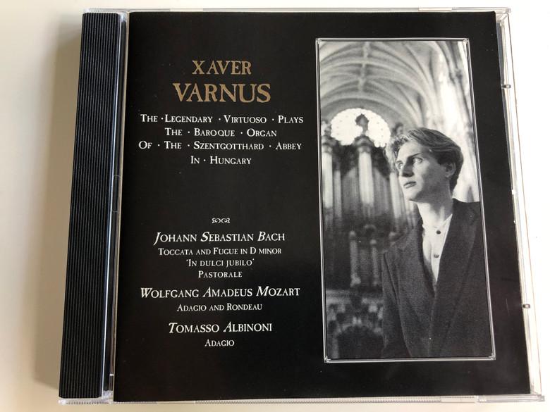 Xaver Varnus / The legendary virtuoso plays the baroque organ of the Szentgotthard abbey in Hungary / Bach, Mozart, Albinoni / Audio CD / ACD 1436 (ACD 1439)