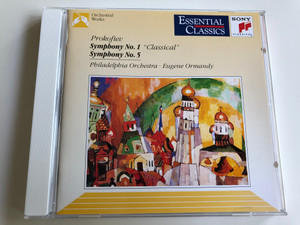 "Prokofiev - Symphony No. 1 ""Classical"", Symphony No. 5 / Philadelphia Orchestra / Conducted by Eugene Ormandy / Essential Classics / Audio CD 1993 (5099705326022)"