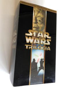 Star Wars Trilogy VHS Set 2000 Episode IV A New Hope, V. The Empire Strikes Back, VI. Return of the Jedi / Star Wars Trilógia IV. Egy Új Remény, V. A Birodalom Visszavág, VI. A Jedi visszatér / 3x VHS / Widescreen & Hungarian Subtitles (5996255603750)
