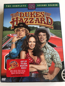 The Dukes of Hazzard DVD Box Set 1979 / Created by Gy Waldron, Jerry Rushing / Starring: Tom Wopat, John Schneider, Catherine Bach, Denver Pyle / The Complete Season 2. / 4 Discs / 23 episodes (012569591677)