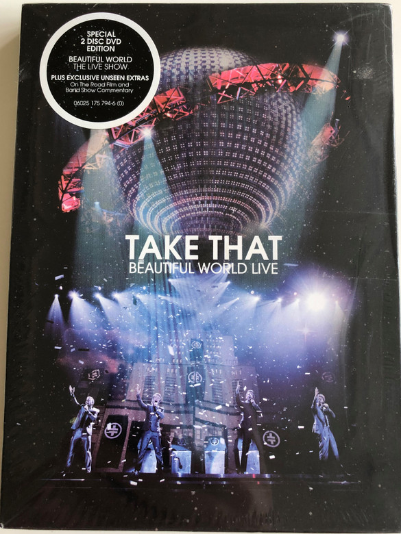 Take That – Beautiful World Live DVD 2008 / Filmed live at the O2 / Special 2 disc DVD / Plus Exclusive unseen Extras - The Journey - Exclusive on the Road film (602517579460)