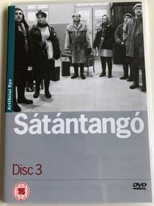 Sátántangó Disc 3. DVD 1994 Satan's Tango / Directed by Béla Tarr / Starring: Mihály Víg, Putyi Horváth, László Lugossy / Chapters 7-12 (SatantangoDVD3)