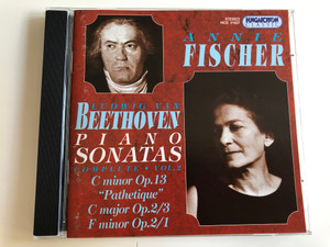 "Annie Fischer - Beethoven Piano Sonatas - Complete Vol. 2 / C Minor Op. 13 ""Pathetique"", C Major Op. 2 No.3, F Minor Op. 2 No.1 / Audio CD 1996 / Hungaroton Classic / HCD 31627 (5991813162724)"