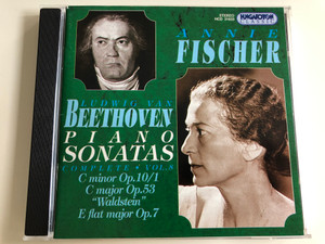 "Annie Fischer: Beethoven Piano Sonatas - Complete Vol. 8 / C Minor Op. 10/1, C Major Op. 53 ""Waldstein"" E flat major Op.7 / Audio CD 1998 / Hungaroton Classic / HCD 31633 (5991813163325)"