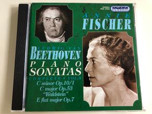 """Annie Fischer: Beethoven Piano Sonatas - Complete Vol. 8 / C Minor Op. 10/1, C Major Op. 53 """"Waldstein"""" E flat major Op.7 / Audio CD 1998 / Hungaroton Classic / HCD 31633 (5991813163325)"""