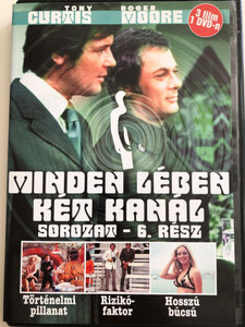 The Persuaders series vol 6. DVD 1971 Minden lében két kanál sorozat 6. rész / Directed by Leslie Norman, Roy Ward Baker, Basil Dearden, Val Guest / Starring: Roger Moore, Tony Curtis, Laurence Naismith, Bruno Barnabe, Imogen Hassal / 3 episodes on DVD (5999545581677)
