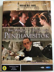 Die Fälscher DVD 2007 A pénzhamisítók (The Counterfeiters) / Directed by Stefan Ruzowitzky / Starring: Karl Markovics, August Diehl, Devid Striesow (599813318563)