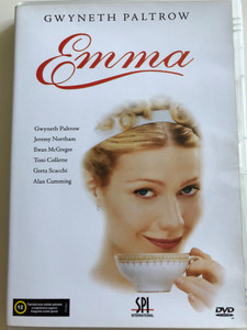 Emma DVD 1996 / Directed by Douglas McGrath / Starring: Gwyneth Paltrow, Toni Colette, Alan Cumming, Ewan McGregor, Jeremy Northam, Greta Scacchi / Based on the novel by Jane Austen (5996051010035)
