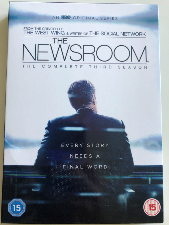 The Newsroom DVD 2015 / The Complete Third season / Created by Aaron Sorkin / A HBO original Series / Every Story needs a final word (5051892186377)