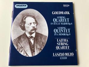 Goldmark - String Quartet in B flat Major Op.8, String Quintet in A minor Op. 9 / Lajtha String Quartet / László Mező, Cello / Hungaroton Classic HCD 31556 / Audio CD 1993 (5991813155627)