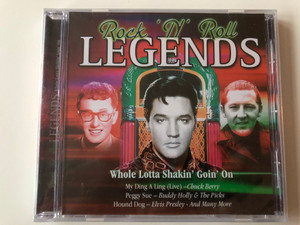 Rock 'n' Roll Legends / Whole Lotta Shakin' Goin' On / My Ding a ling (Live) - Chuck Berry, Peggy Sue - Buddy Holly & the Picks, Hound Dog - Elvis Presley ... and many more / Audio CD 2004 / Musicbank / APWCD 1940 (5029248174828)