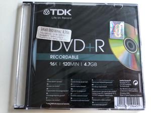 TDK DVD+R Recordable / 16x speed / 4.7 GB (4902030194451)