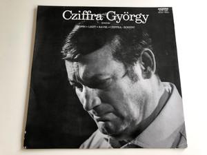 Cziffra György, Zongora / Chopin, Liszt, Ravel, Cziffra, Rossini / Hungaroton / SLPX 11945, Stereo-Mono (SLPX11945)