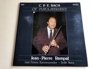 C.P.E. Bach - Öt fuvolaverseny / Jean-Pierre Rampal / Liszt Ferenc Chamber Orchestra / Conducted by Rolla János / Hungaroton 1988 / SLPD 12902-03 / Digital Stereo (SLPD12902-03)