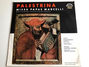 Palestrina - Missa Papae MArcelli / Oratorio Jeremiae, Paucitas Dierum, Alleluia / Czech Philharmonic Chorus / Choirmaster: Josef Veselka / Prague Madrigal Singers / Supraphon 1964 / SUA ST 50578 ( SUA ST 50578)