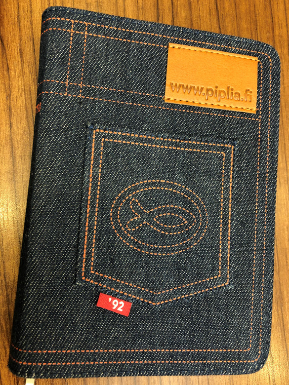 Raamattu / Finnish Language Holy Bible / Jeans Cover with zipper / Piplia - Suomen Pipliaseura 2018 / 5th edition (9789515774514)