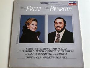 Mirella Freni, Luciano Pavarotti - La Traviata, Werther, I Vespri Siciliani, La Gioconda, La Fille du Regiment / Orchestra Dell 'Ater / Conducted by Leone Magiera / Jubilee 1981 / LP, JL41009 (JL41009)
