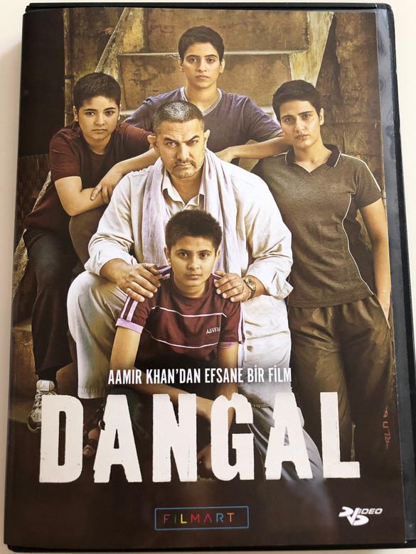 Dangal DVD 2016 Wrestling competition / Directed by Nitesh Tiwari / Starring: Aamir Khan, Sakshi Tanwar, Fatima Sana Shaikh, Zaira Wasim, Sanya Malhotra, Suhani Bhatnagar, Aparshakti Khurana, Girish Kulkarni (8697762830277)