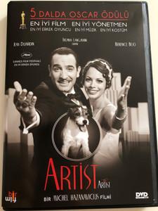 The Artist DVD 2011 Artist / Directed by Michel Hazanavicius / Starring: Jean Dujardin, Thomas Langmann, Berenice Bejo / 5 dalda oscar ödülü / 5 Oscar Awards (8680891100496)