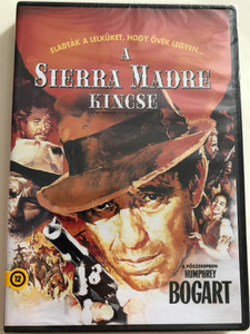 The treasure of the Sierra Madre DVD 1947 A Sierra Madre kincse / Directed by John Huston / Starring: Humphrey Bogart, Walter Huston, Tim Holt, Bruce Bennett / Bogart Classic (5996514006230)