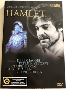 William Shakespeare - Hamlet DVD 1980 / BBC Theatre Play / Directed by Rodney Bennett / Cast: Derek Jacobi - Hamlet, Claire Bloom - Gertrude, Patrick Stewart - Claudius, Lalla Ward - Ophelia (5996357325529)
