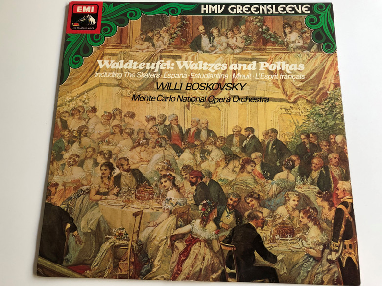 Waldteufel: Waltzes and Polkas/ Including The Skaters: España - Estudiantina - Minuit - L'Esprit Francais/ Willi Boskovsky/ Monte Carlo National Opera Orchestra/ EMI Records Ltd./ LP, STEREO-QUADRAPHONIC/ ESD 7012