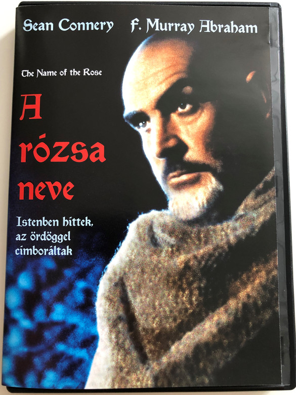 The name of the Rose DVD 1986 A rózsa neve / Directed by Jean-Jacques Annaud / Starring: Sean Connery, F. Murray Abraham, Feodor Chaliapin Jr. / Based on Umberto Eco's novel (5996514005585)