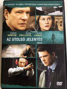 Breach DVD 2006 Az utolsó jelentés / Directed by Billy Ray / Starring: Chris Cooper, Ryan Philippe, Laura Linney (5999048915818)