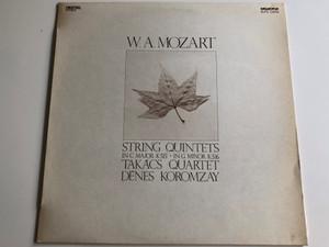 W.A.Mozart - String Quintets In C Major K515, In G Minor K516 / Takacs Quartet, Denes Koromzay / HUNGAROTON LP DIGITAL STEREO / SLPD 12656