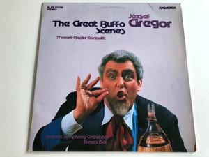 József Gregor- The Great Buffo Scenes / Mozart, Rossini, Donizetti / Savaria Symphony Orchestra / Tamas Dal / HUNGAROTON LP STEREO / SLPX 12359