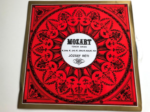 Mozart - Tenor Arias K.209, K.210, K.295, K.420, K.431 / József Réti / HUNGAROTON LP STEREO - MONO / LPX 11485