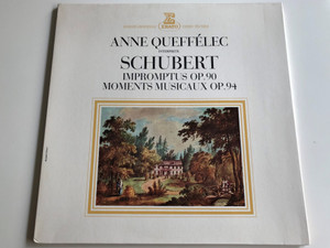 Anne Queffélec Interprete Schubert / Impromptus Op.90 / Moments Musicaux Op.94 / ERATO LP STEREO / STU 70659